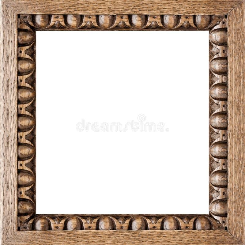 Frame de retrato cinzelado quadrado do carvalho imagem de stock