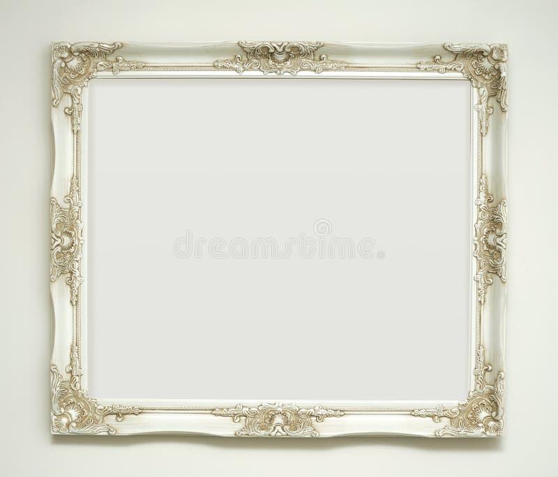 Frame de retrato clássico branco fotografia de stock