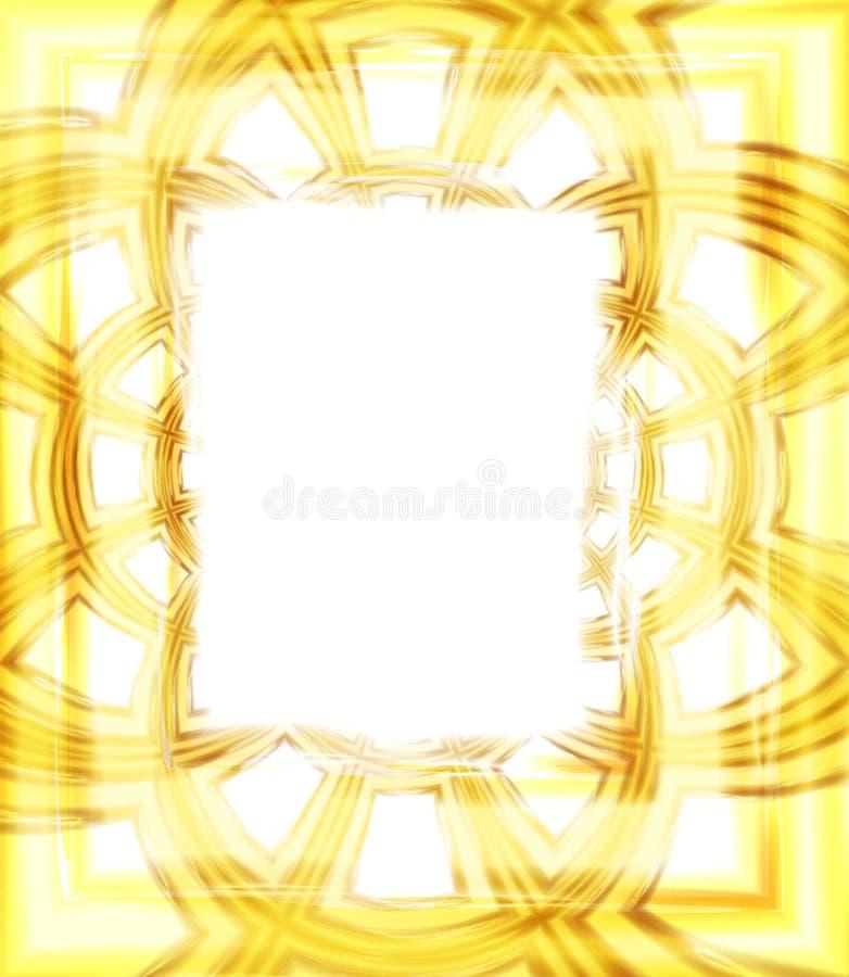 Frame de retrato da foto no ouro ilustração stock