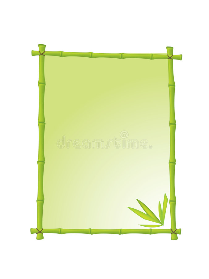 Frame de retrato de bambu ilustração stock