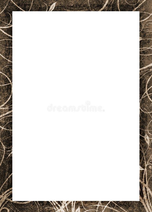 Frame de retrato de Grunge ilustração do vetor