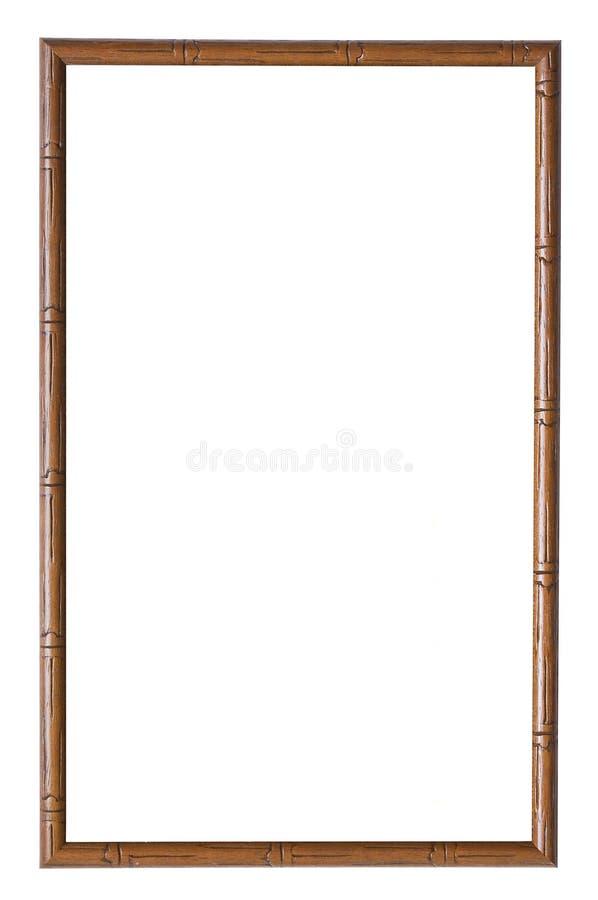 Frame de retrato de madeira fotografia de stock royalty free