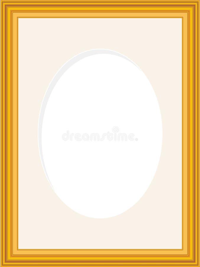 Frame de retrato de madeira ilustração stock