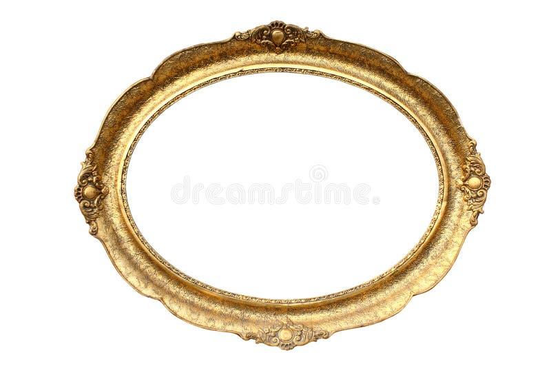 Frame de retrato de madeira chapeado ouro imagens de stock royalty free