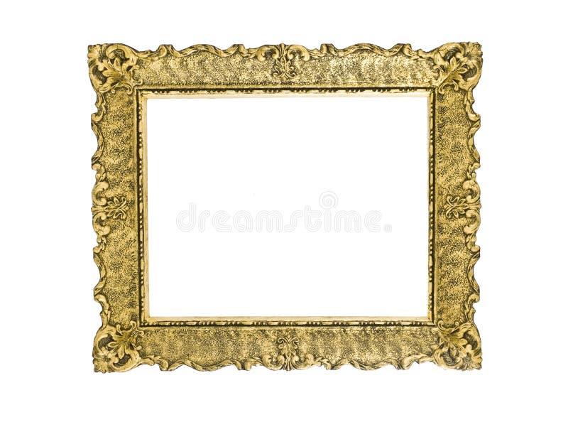 Frame de retrato de madeira chapeado ouro imagens de stock