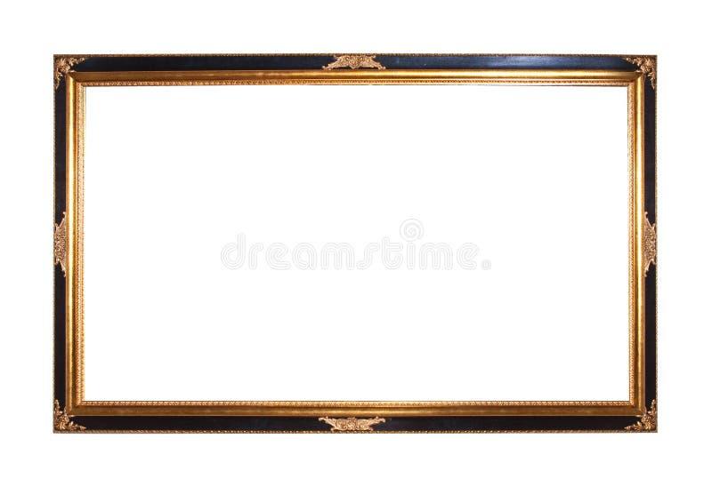 Frame de retrato de madeira chapeado ouro foto de stock royalty free