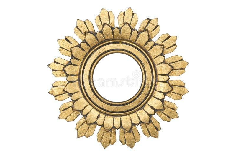 Frame de retrato de madeira chapeado ouro foto de stock