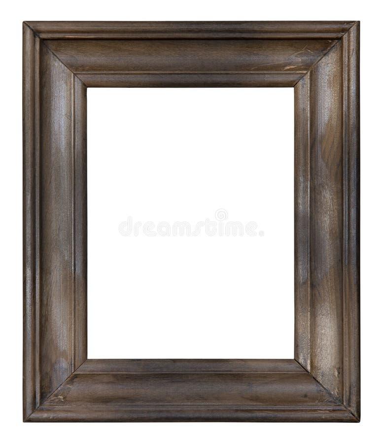 Frame de retrato de madeira velho foto de stock