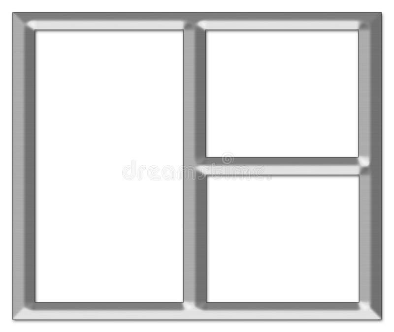 Frame de retrato de prata escovado ilustração stock