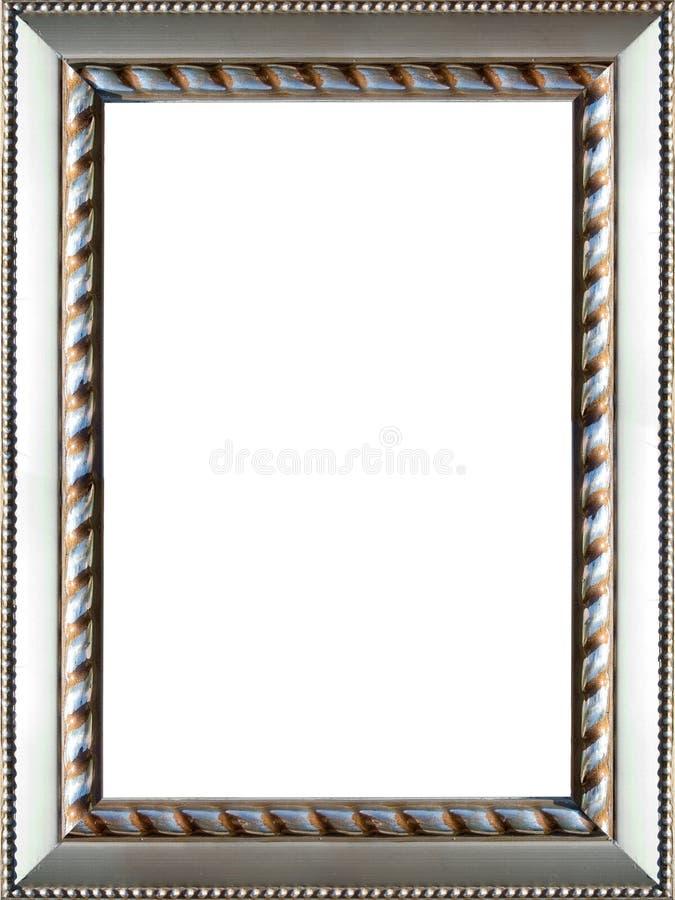 Frame de retrato de prata ornamentado imagens de stock royalty free