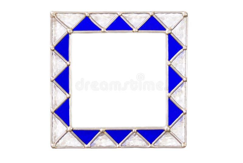 Frame de retrato de vidro quadrado imagens de stock