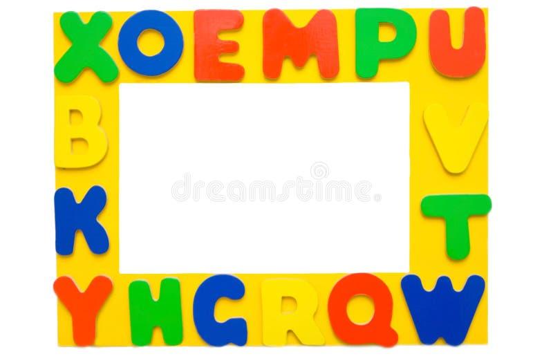 Frame de retrato do alfabeto fotografia de stock