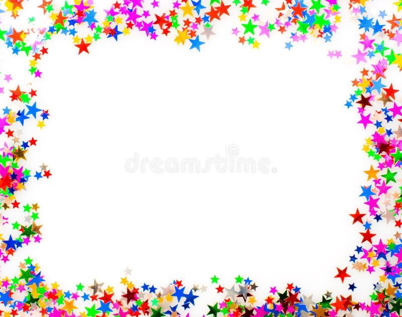 Frame de retrato do Confetti foto de stock