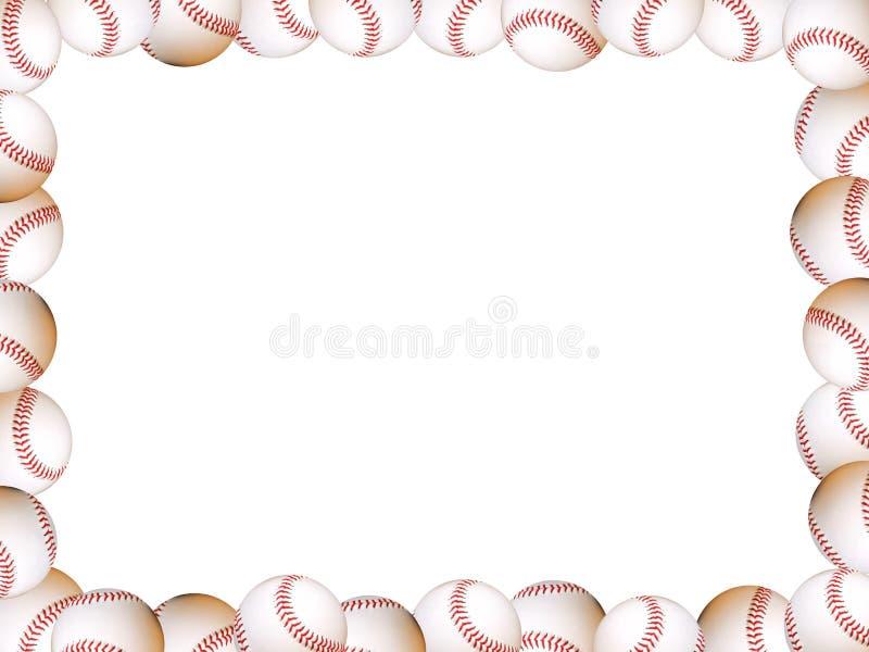 Frame de retrato dos basebol ilustração stock