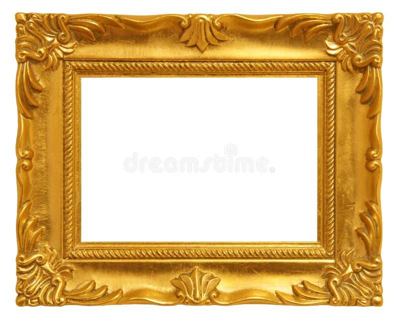 Frame de retrato dourado imagens de stock