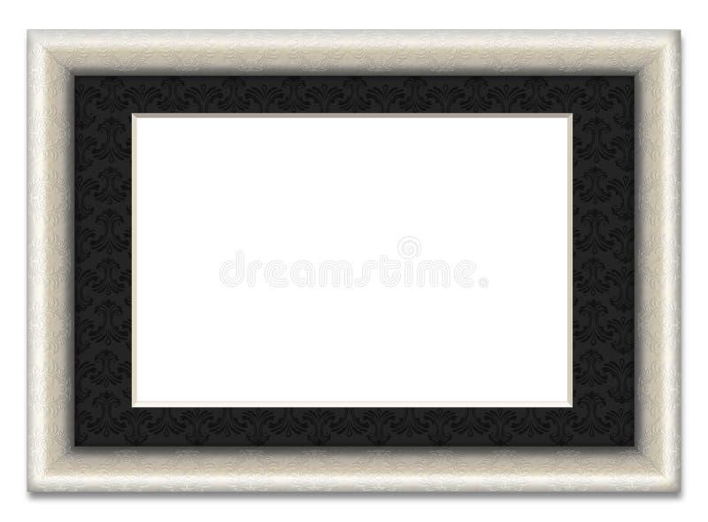 Frame de retrato em branco com montagem da foto ilustração stock