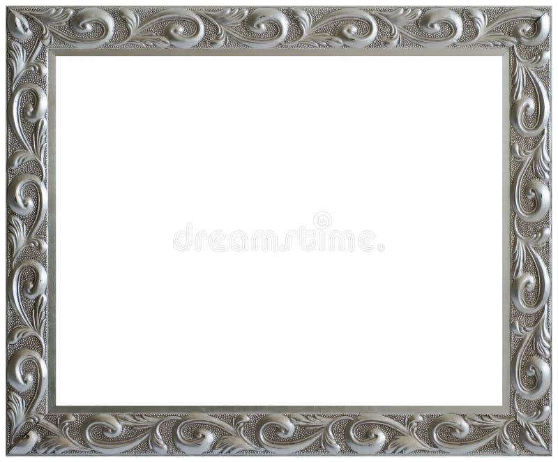Frame de retrato envelhecido prata do vintage fotografia de stock royalty free