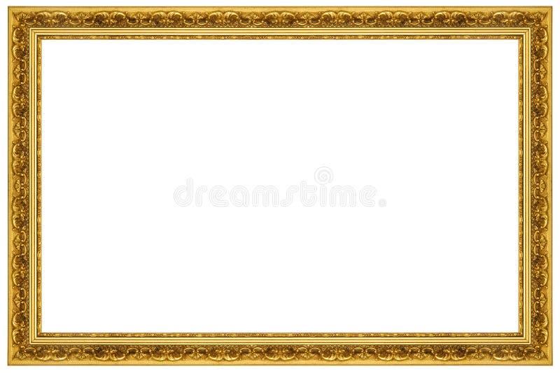 Frame de retrato ornamentado do ouro foto de stock royalty free