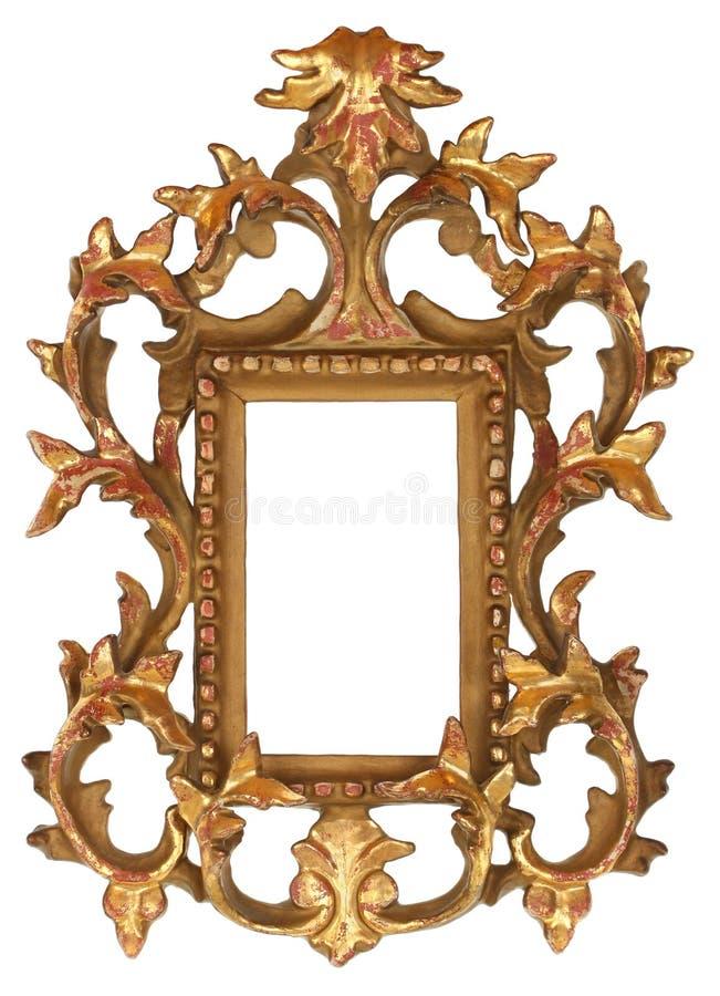 frame de retrato ornamentado do ouro fotografia de stock royalty free