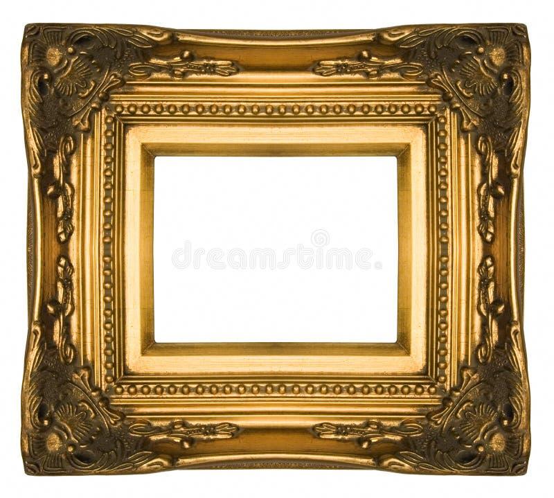 Frame de retrato ornamentado do ouro do vintage foto de stock royalty free