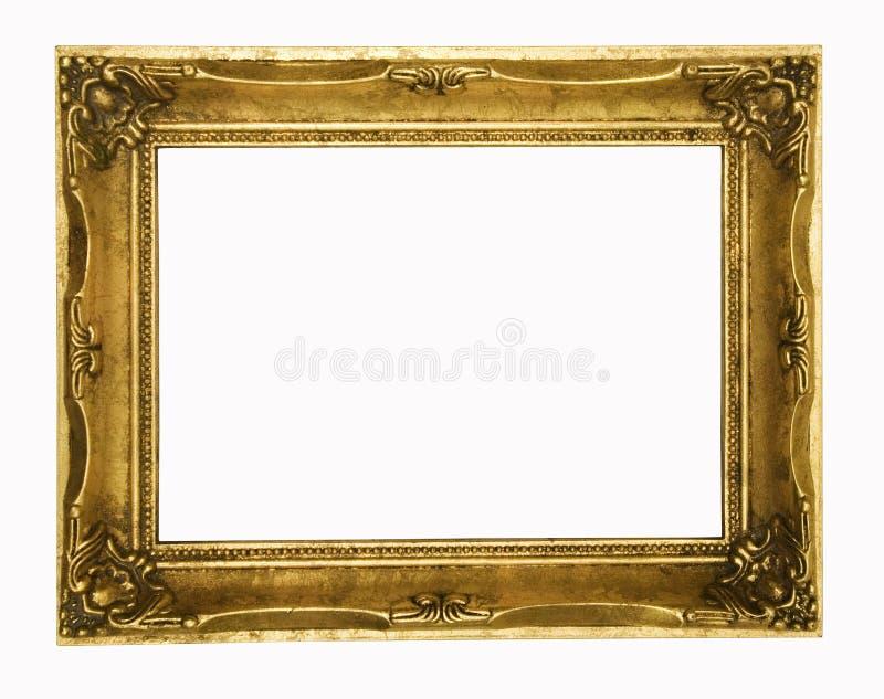 Frame de retrato ornamentado do ouro do vintage fotos de stock royalty free
