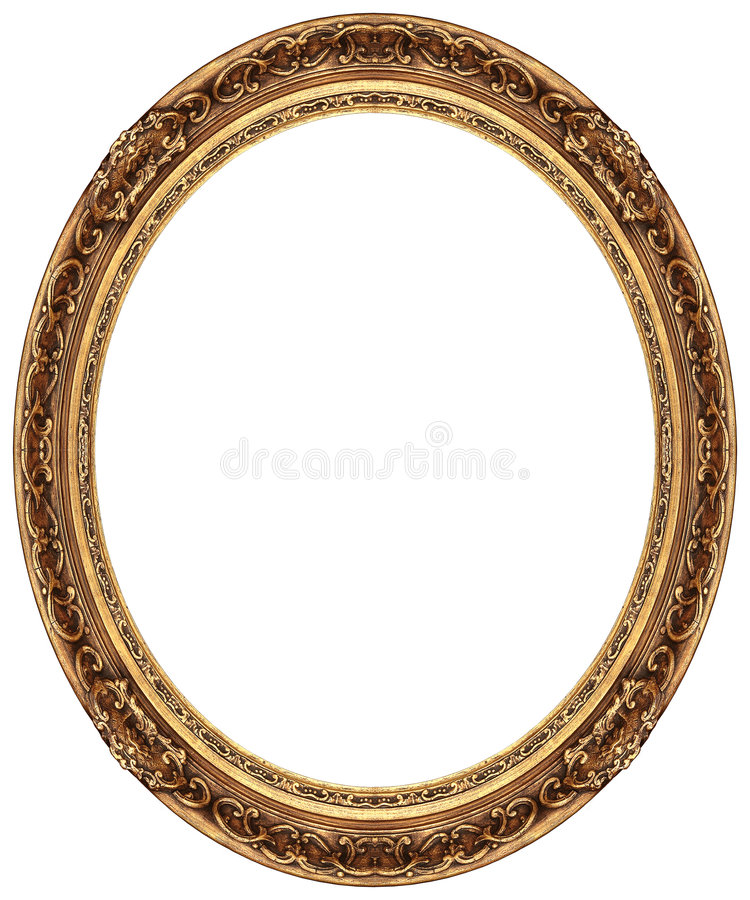 Frame de retrato oval do ouro fotografia de stock