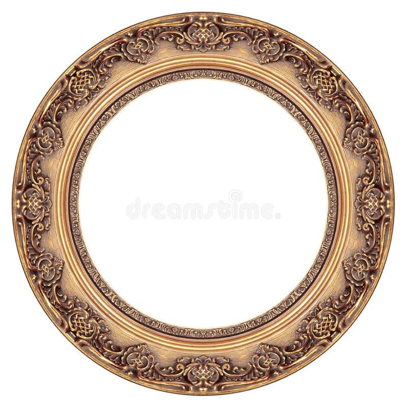 Frame de retrato oval do ouro imagem de stock royalty free