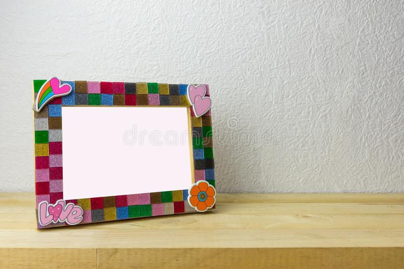 Frame de retrato para a decoração Home fotos de stock royalty free