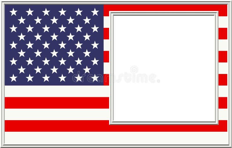 Frame de retrato patriótico ilustração do vetor