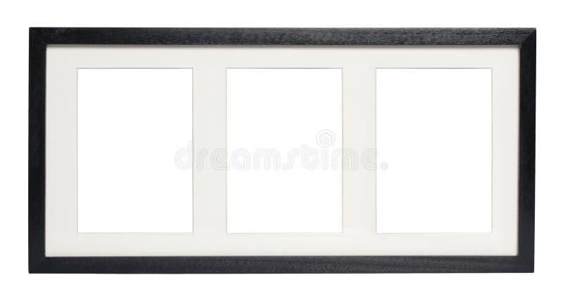 Frame de retrato preto (com trajeto de grampeamento) foto de stock