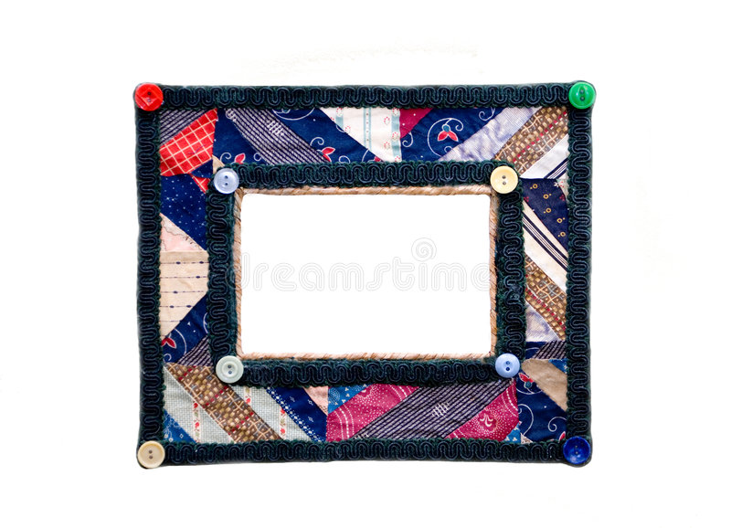 Frame de retrato/quilt coloridos imagem de stock