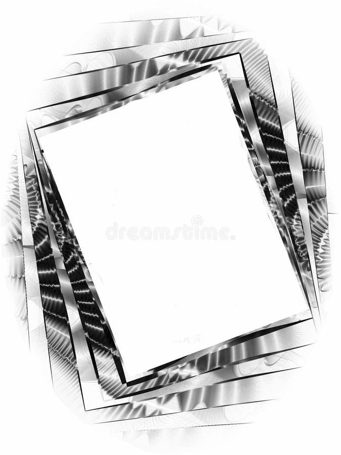 Frame de retrato torcido da foto ilustração stock