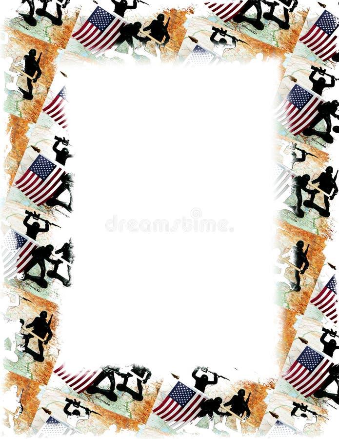 Frame de USA/Iraq ilustração do vetor