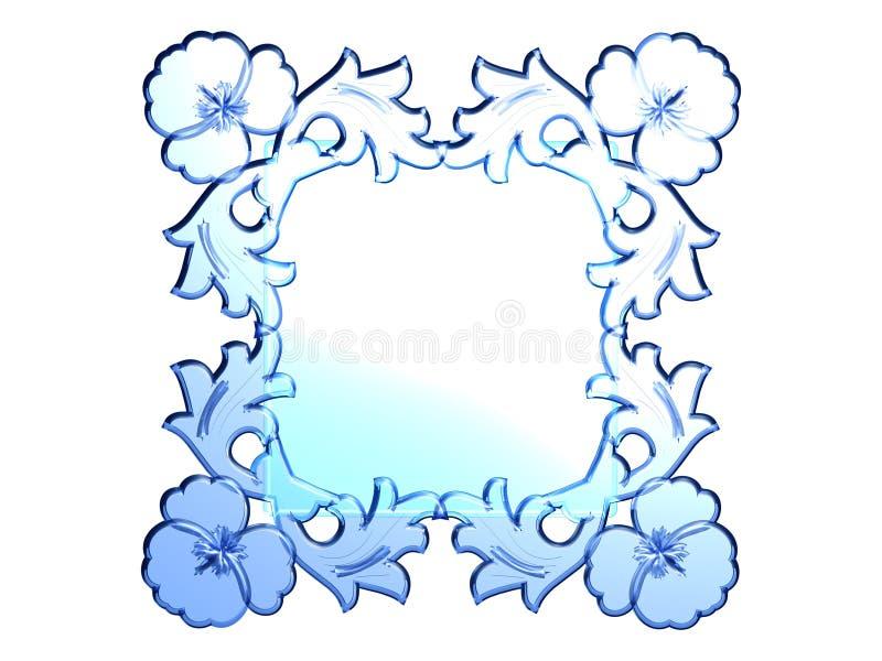 Frame de vidro ilustração stock
