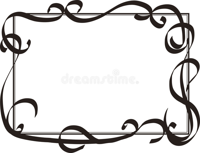 Frame with decorative swirls. Abstract frame royalty free illustration