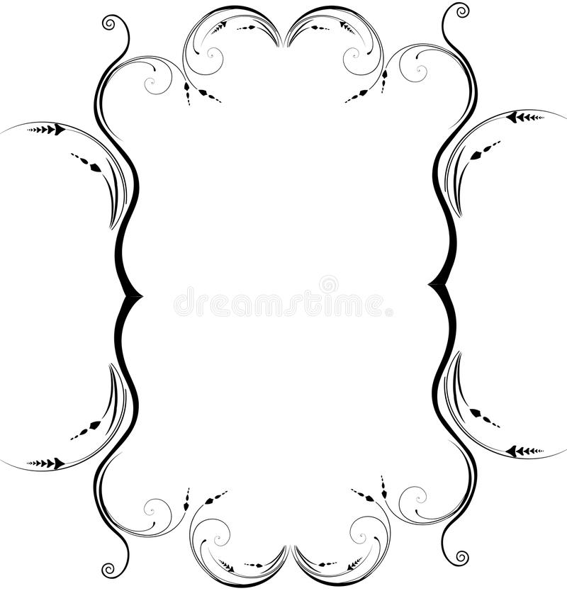 Frame decorativo imagens de stock