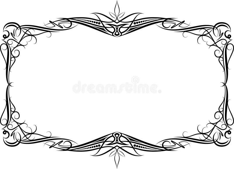 Frame decorativo ilustração stock