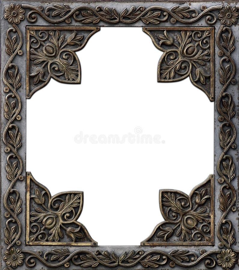 Frame decorativo antigo do metal fotografia de stock royalty free