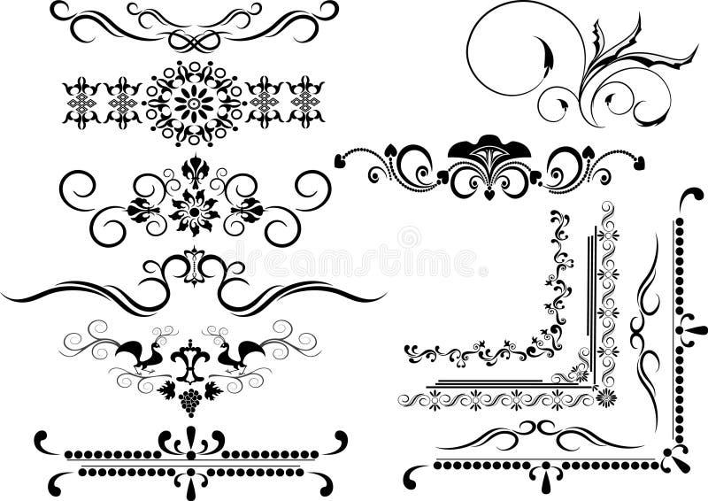Frame decorativo, beira do ornamento. Artes gráficas. imagens de stock