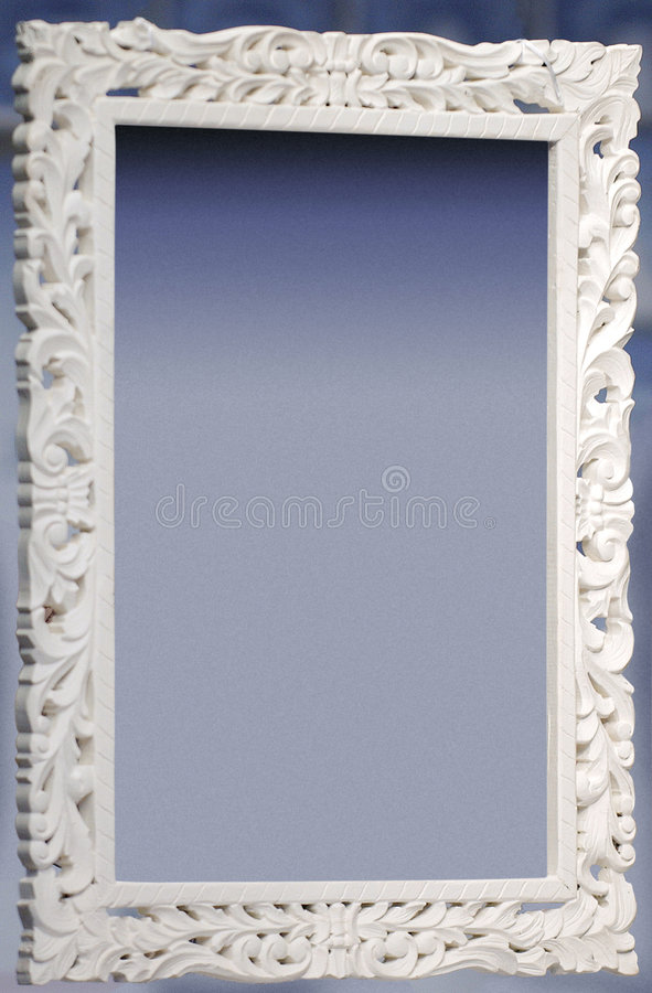 Frame decorativo branco fotos de stock royalty free