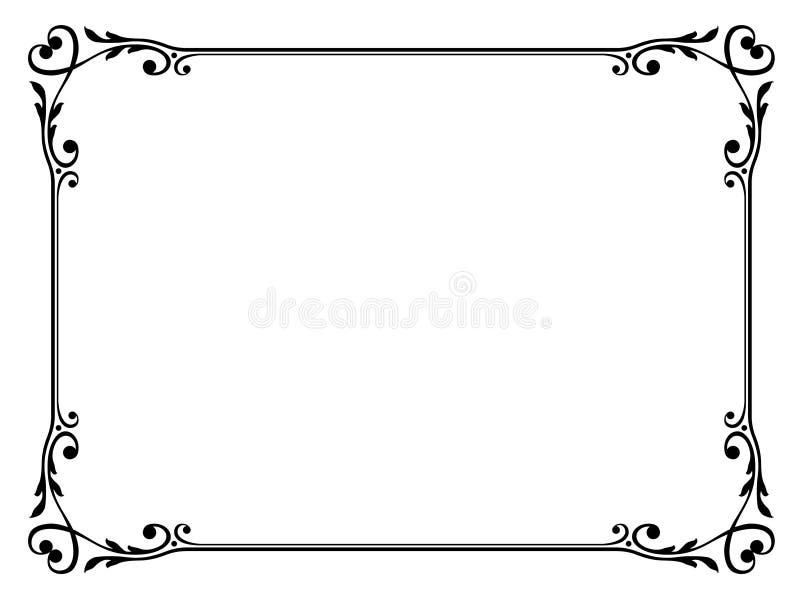 Frame decorativo com coração ilustração stock