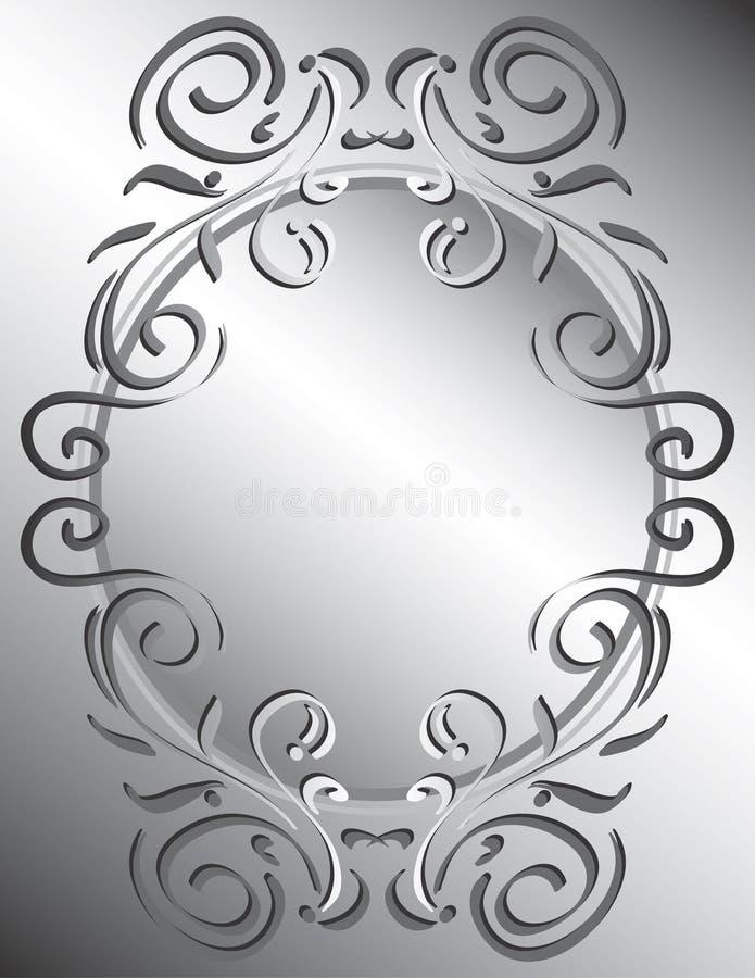 Frame decorativo de Scrollwork ilustração do vetor