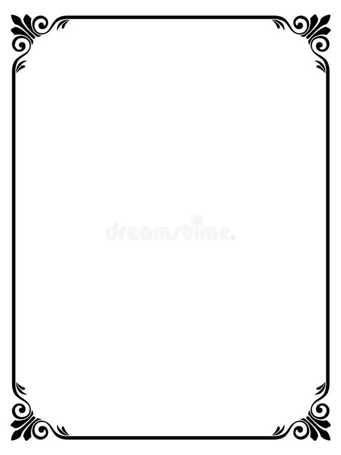 Frame decorativo decorativo da caligrafia ilustração royalty free