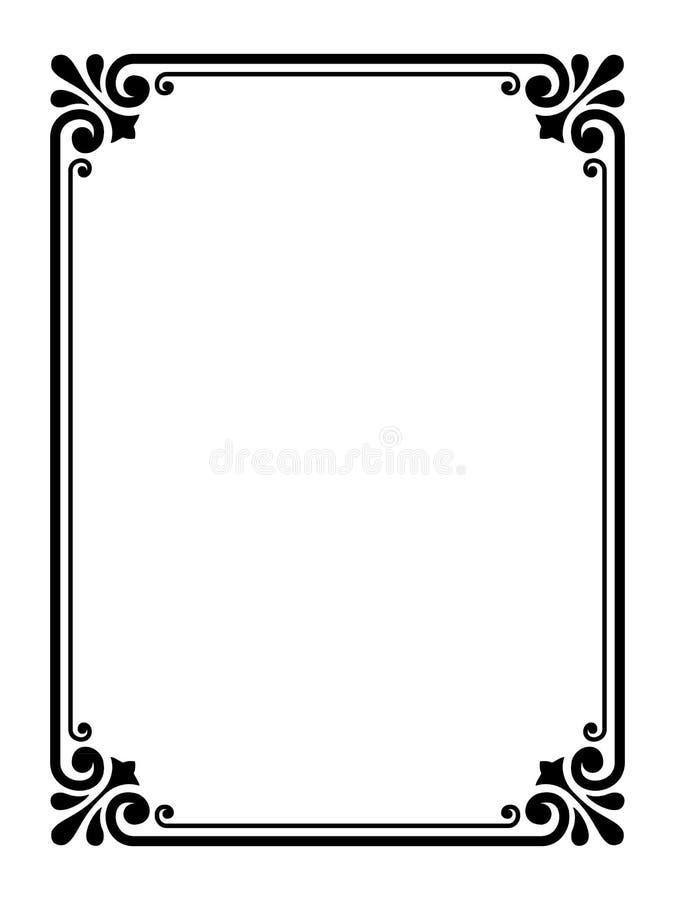 Frame decorativo decorativo simples ilustração do vetor