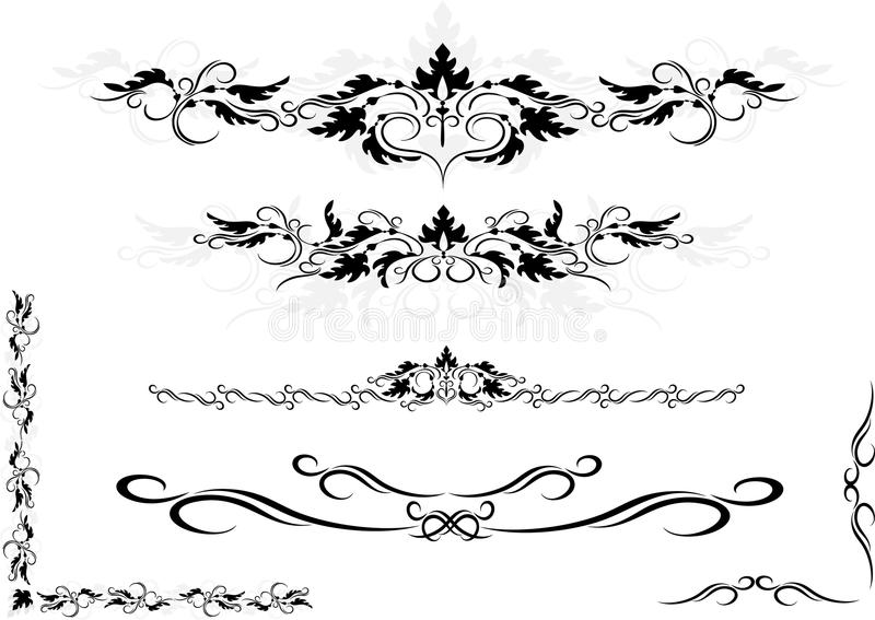 Frame decorativo do ornamento, canto. Artes gráficas. fotos de stock royalty free