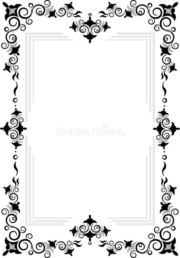 Frame decorativo do ornamento. Gráfico art. fotografia de stock royalty free