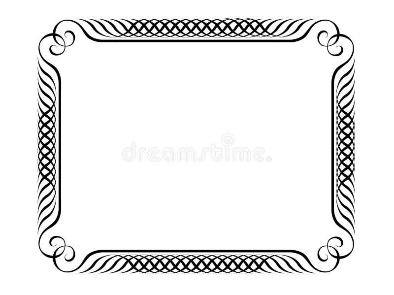 Frame decorativo do Penmanship ilustração stock