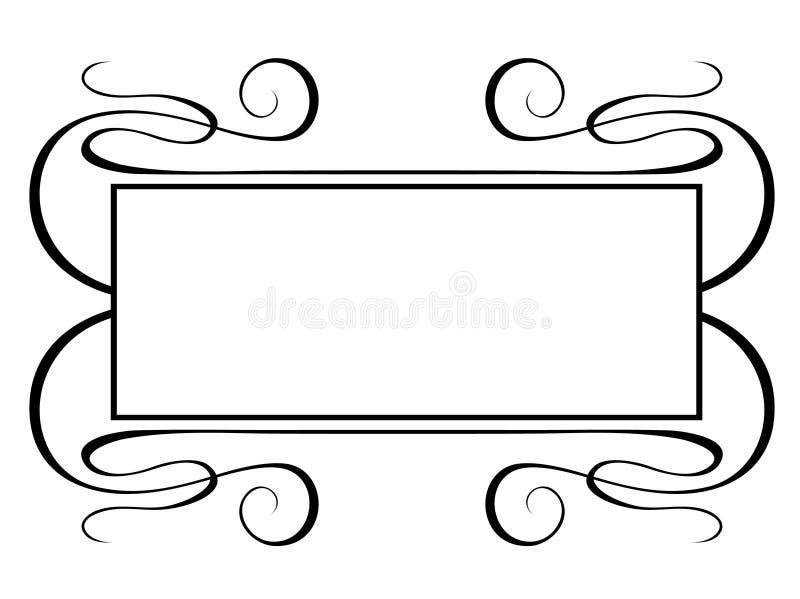 Frame decorativo do Penmanship ilustração do vetor