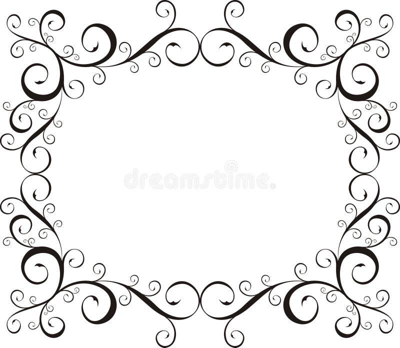 Frame decorativo do vetor ilustração stock
