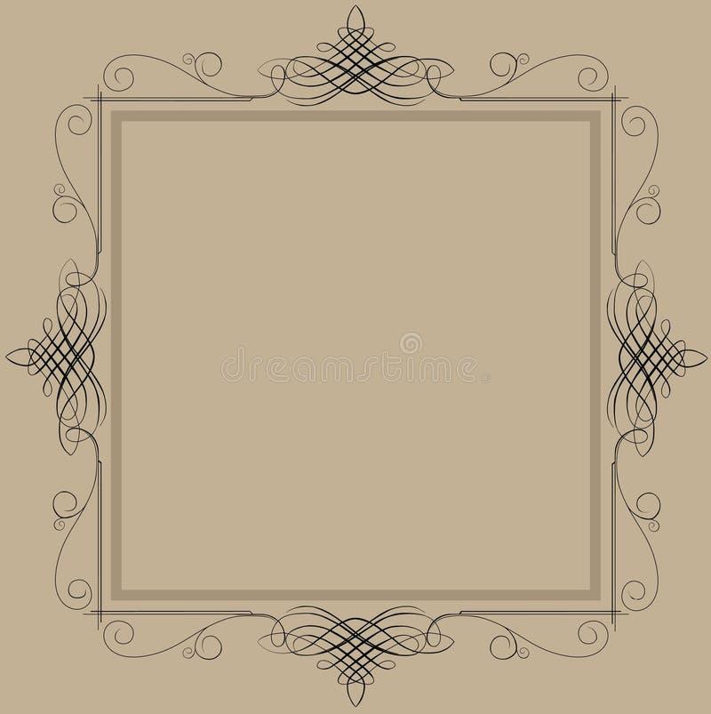 Frame decorativo do vintage ilustração royalty free